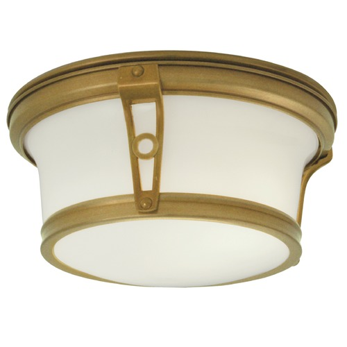 Norwell Lighting Norwell Lighting Leah Aged Brass Flushmount Light 5382-AG-SO