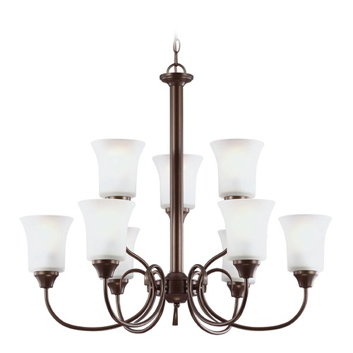 Sea Gull Lighting Sea Gull Lighting Holman Bell Metal Bronze Chandelier 39810BLE-827