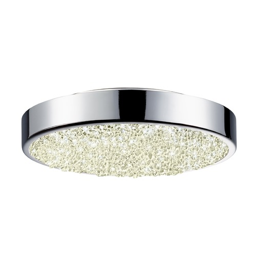 Sonneman Lighting Sonneman Dazzle Polished Chrome LED Flushmount Light with Drum Shade 2566.01