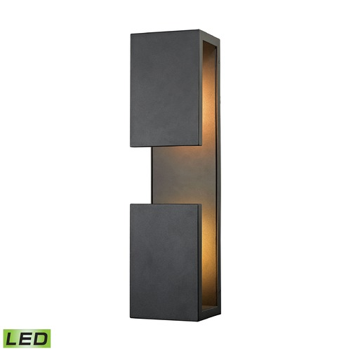 Elk Lighting Elk Lighting Pierre Textured Matte Black LED Outdoor Wall Light 45232/LED