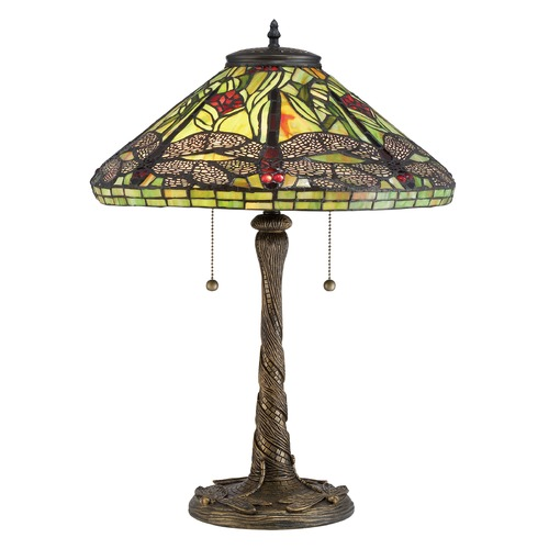 Quoizel Lighting Quoizel Lighting Tiffany Architectural Bronze Table Lamp with Conical Shade TF2598T