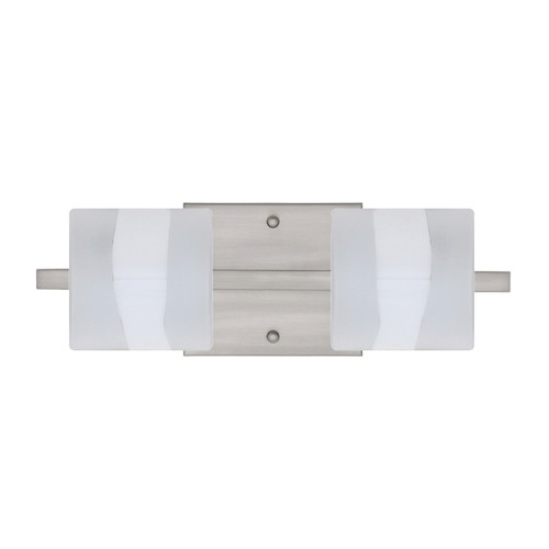 Besa Lighting Besa Lighting Paolo Frosted Glass Satin Nickel LED Bathroom Light 2WS-787399-LED-SN