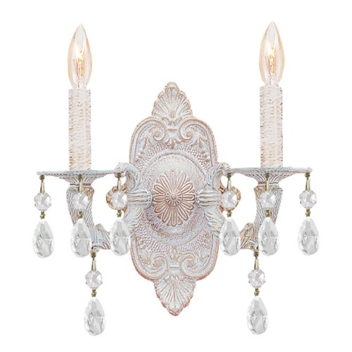 Crystorama Lighting Crystorama Lighting Paris Market Antique White Sconce 5200-AW-CLEAR