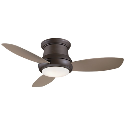 Minka Aire 44-Inch Minka Aire Concept II Oil Rubbed Bronze LED Ceiling Fan with Light F518L-ORB