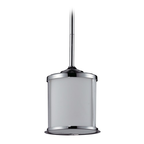 Z-Lite Z-Lite Sonna Chrome Mini-Pendant Light with Cylindrical Shade 2003MP-CH