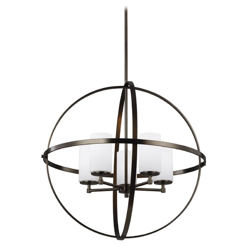 Sea Gull Lighting Sea Gull Lighting Alturas Brushed Oil Rubbed Bronze LED Chandelier 3124605EN3-778