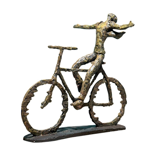 Uttermost Lighting Modern Bicyle Sculpture in Sage Green / Rust Finish 19488