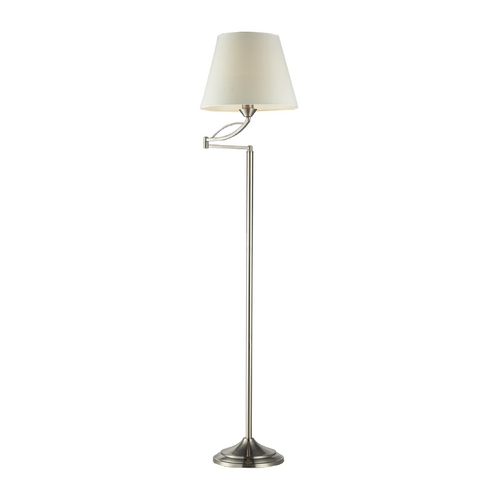 Dimond Lighting Floor Lamp with Beige / Cream Shade in Satin Nickel Finish 17047/1