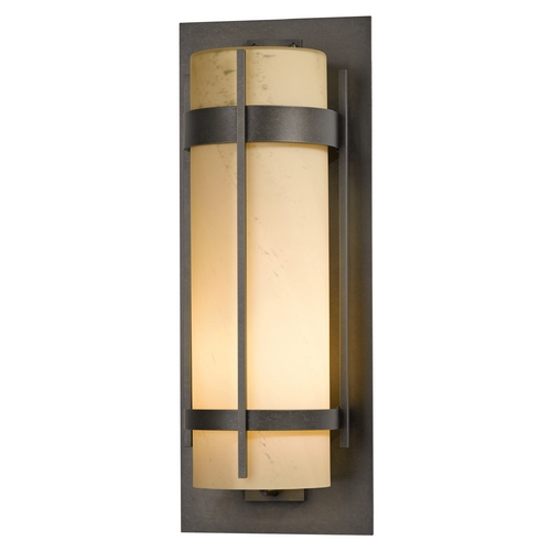 Hubbardton Forge Lighting Hubbardton Forge Lighting Banded Dark Smoke Outdoor Wall Light 305895-07-H240