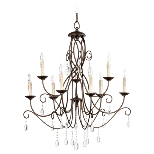 Quorum Lighting Quorum Lighting Cilia Oiled Bronze Chandelier 6116-9-86