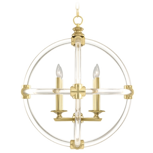 Fine Art Lamps Fine Art Lamps Grosvenor Square Antique Hand-Rubbed Solid Brass Pendant Light 845840-2ST