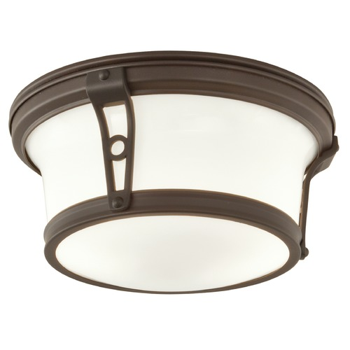 Norwell Lighting Norwell Lighting Leah Architectural Bronze Flushmount Light 5382-AR-SO