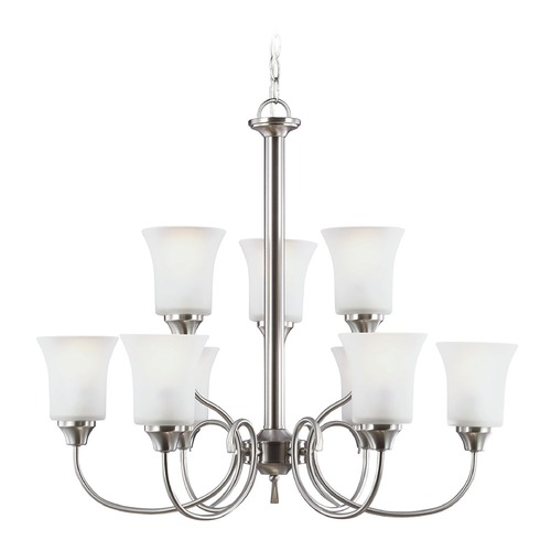 Sea Gull Lighting Sea Gull Lighting Holman Brushed Nickel Chandelier 39810BLE-962