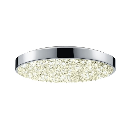 Sonneman Lighting Sonneman Dazzle Polished Chrome LED Flushmount Light with Drum Shade 2567.01