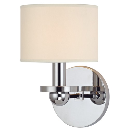 Hudson Valley Lighting Kirkwood 1 Light Sconce Drum Shade - Polished Chrome 1511-PC