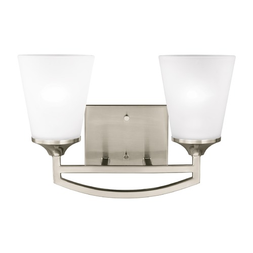 Sea Gull Lighting Sea Gull Hanford Brushed Nickel Bathroom Light 4424502-962