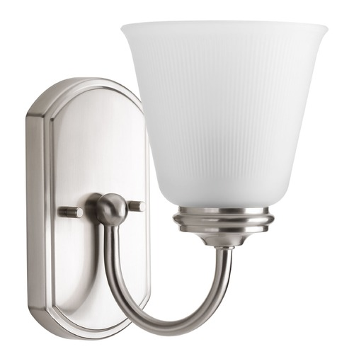 Progress Lighting Progress Lighting Keats Brushed Nickel Sconce P2814-09
