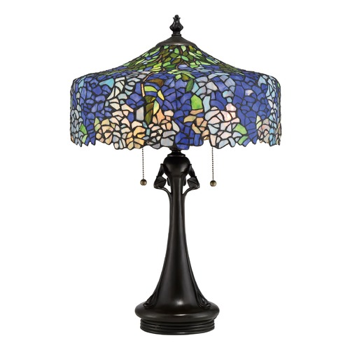 Quoizel Lighting Quoizel Lighting Tiffany Vintage Bronze Table Lamp with Bowl / Dome Shade TF2599TVB