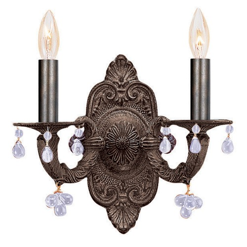 Crystorama Lighting Crystorama Lighting Paris Market Venetian Bronze Sconce 5200-VB-CLEAR