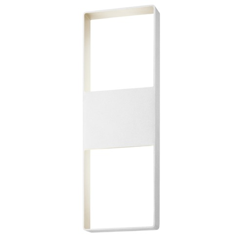 Sonneman Lighting Sonneman Frames Textured White LED Outdoor Wall Light 7204.98-WL