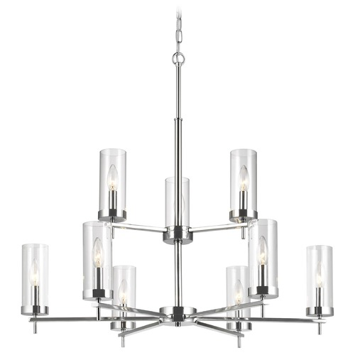 Sea Gull Lighting Sea Gull Lighting Zire Chrome LED Chandelier 3190309EN-05