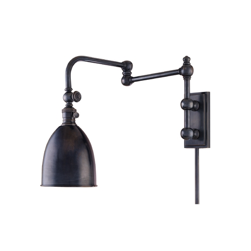 Hudson Valley Lighting Swing Arm Lamp in Polished Nickel Finish 771-PN