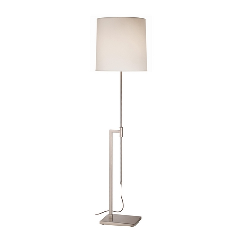 Sonneman Lighting Modern Floor Lamp with White Shade in Satin Nickel Finish 7008.13