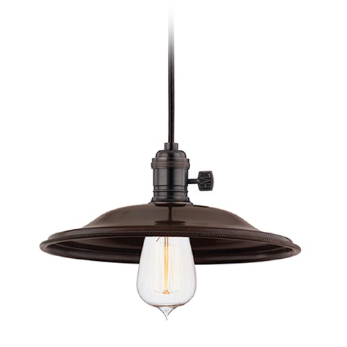 Hudson Valley Lighting Hudson Valley Lighting Heirloom Old Bronze Mini-Pendant Light with Coolie Shade 8001-OB-MS2