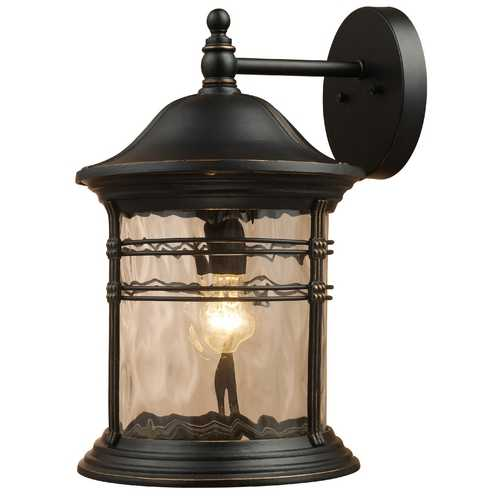 Elk Lighting Outdoor Wall Light with Clear Glass in Matte Black Finish 08163-MBG