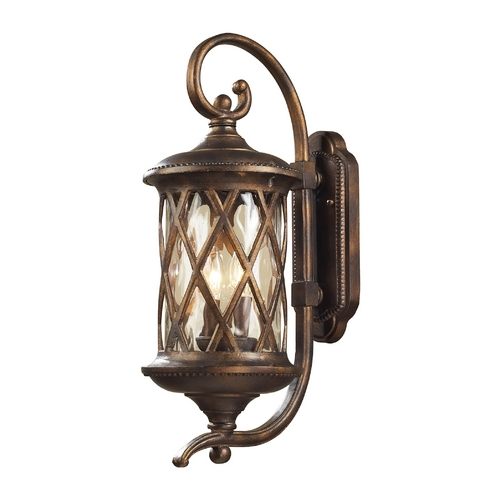 Elk Lighting Outdoor Wall Light with Clear Glass in Hazlenut Bronze Finish 42031/2
