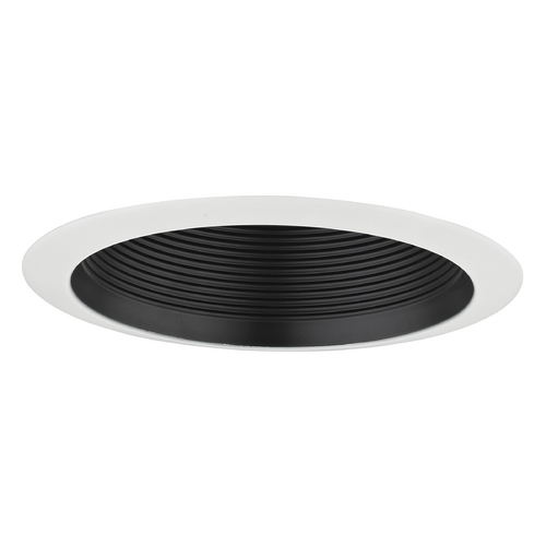 Recesso Lighting by Dolan Designs Black Baffle Cone Trim for 6-Inch Recessed Cans T613B-WH