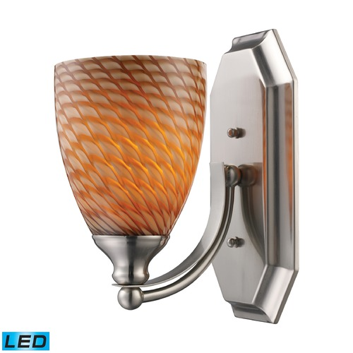 Elk Lighting Elk Lighting Bath and Spa Satin Nickel LED Sconce 570-1N-C-LED