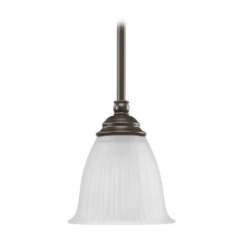Progress Lighting Progress Mini-Pendant Light with White Glass P5104-77