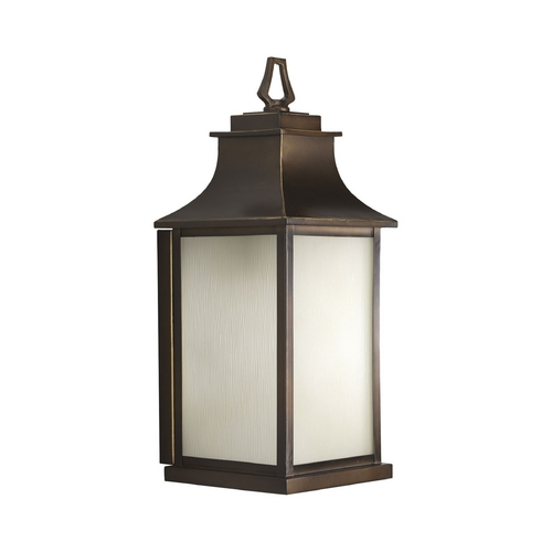 Progress Lighting Progress Oil Rubbed Bronze Outdoor Wall Light with Amber Glass P5954-108