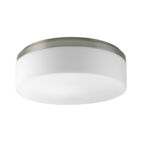 Progress Lighting Progress Flushmount Light with White in Brushed Nickel Finish P3911-09WB