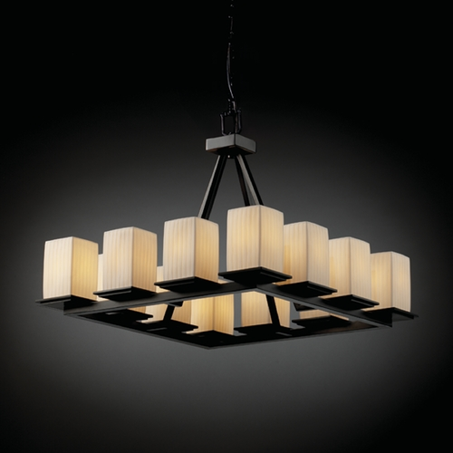 Justice Design Group Justice Design Group Limoges Collection Chandelier POR-8668-15-WFAL-MBLK