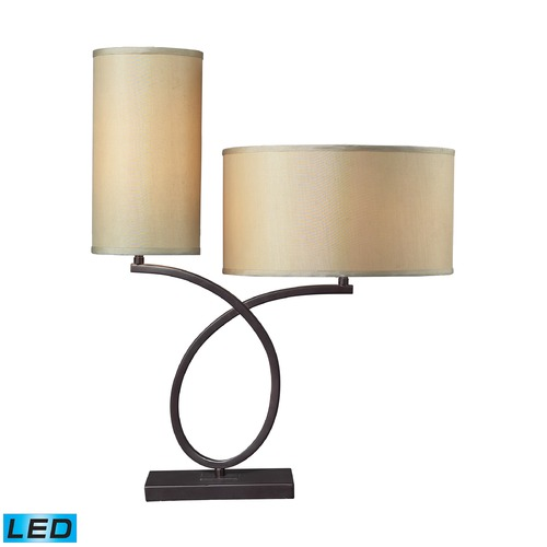 Dimond Lighting Dimond Lighting Aged Bronze LED Table Lamp with Drum Shade D2002-LED