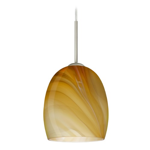 Besa Lighting Besa Lighting Lucia Satin Nickel LED Mini-Pendant Light 1JT-1697HN-LED-SN