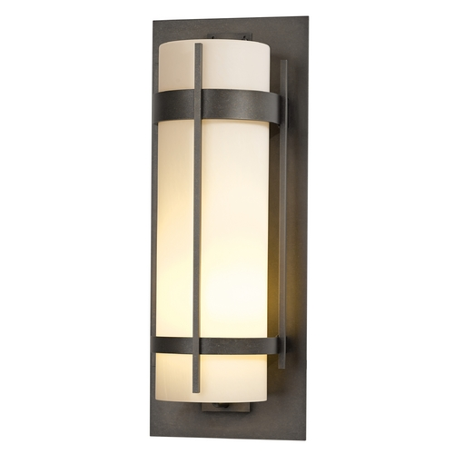 Hubbardton Forge Lighting Hubbardton Forge Lighting Banded Dark Smoke Outdoor Wall Light 305895-07-ZX240