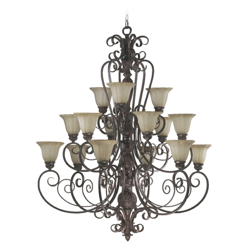 Quorum Lighting Quorum Lighting Coronado Gilded Bronze Chandelier 6195-15-38