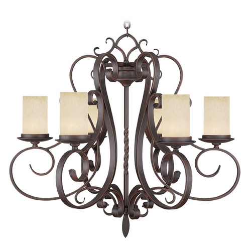 Livex Lighting Livex Lighting Millburn Manor Imperial Bronze Chandelier 5486-58