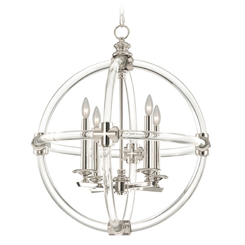 Fine Art Lamps Fine Art Lamps Grosvenor Square Nickel Plated Pendant Light 845840ST