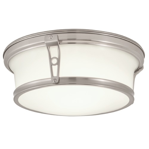 Norwell Lighting Norwell Lighting Leah Brush Nickel Flushmount Light 5382-BN-SO