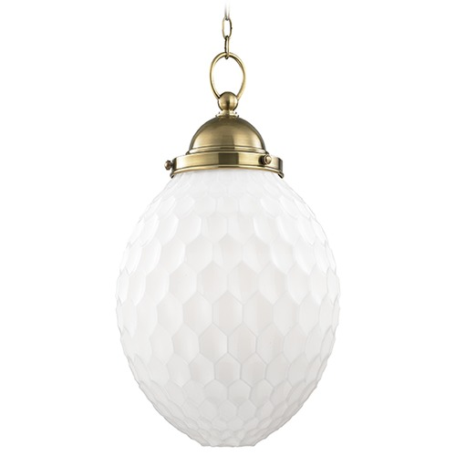 Hudson Valley Lighting Columbia 1 Light Pendant Light - Aged Brass 3014-AGB