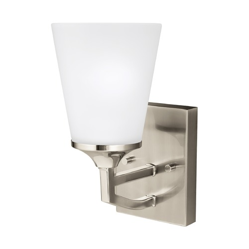 Sea Gull Lighting Sea Gull Hanford Brushed Nickel Sconce 4124501-962