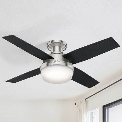 Hunter Fan Company Hunter Fan Company Dempsey Brushed Nickel LED Ceiling Fan with Light 59243