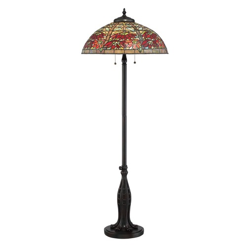 Quoizel Lighting Quoizel Lighting Tiffany Valiant Bronze Floor Lamp with Bowl / Dome Shade TF2600FVA