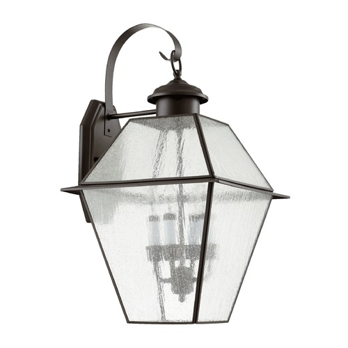 Quorum Lighting Seeded Glass Outdoor Wall Light Bronze Quorum Lighting 729-4-136