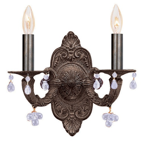 Crystorama Lighting Crystorama Lighting Paris Market Venetian Bronze Sconce 5200-VB-AMBER