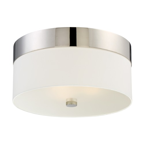 Crystorama Lighting Crystorama Lighting Grayson Polished Nickel Flushmount Light 293-PN